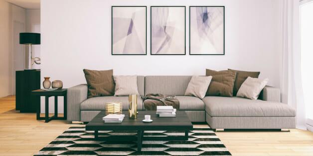 Modern minimalistic living room.